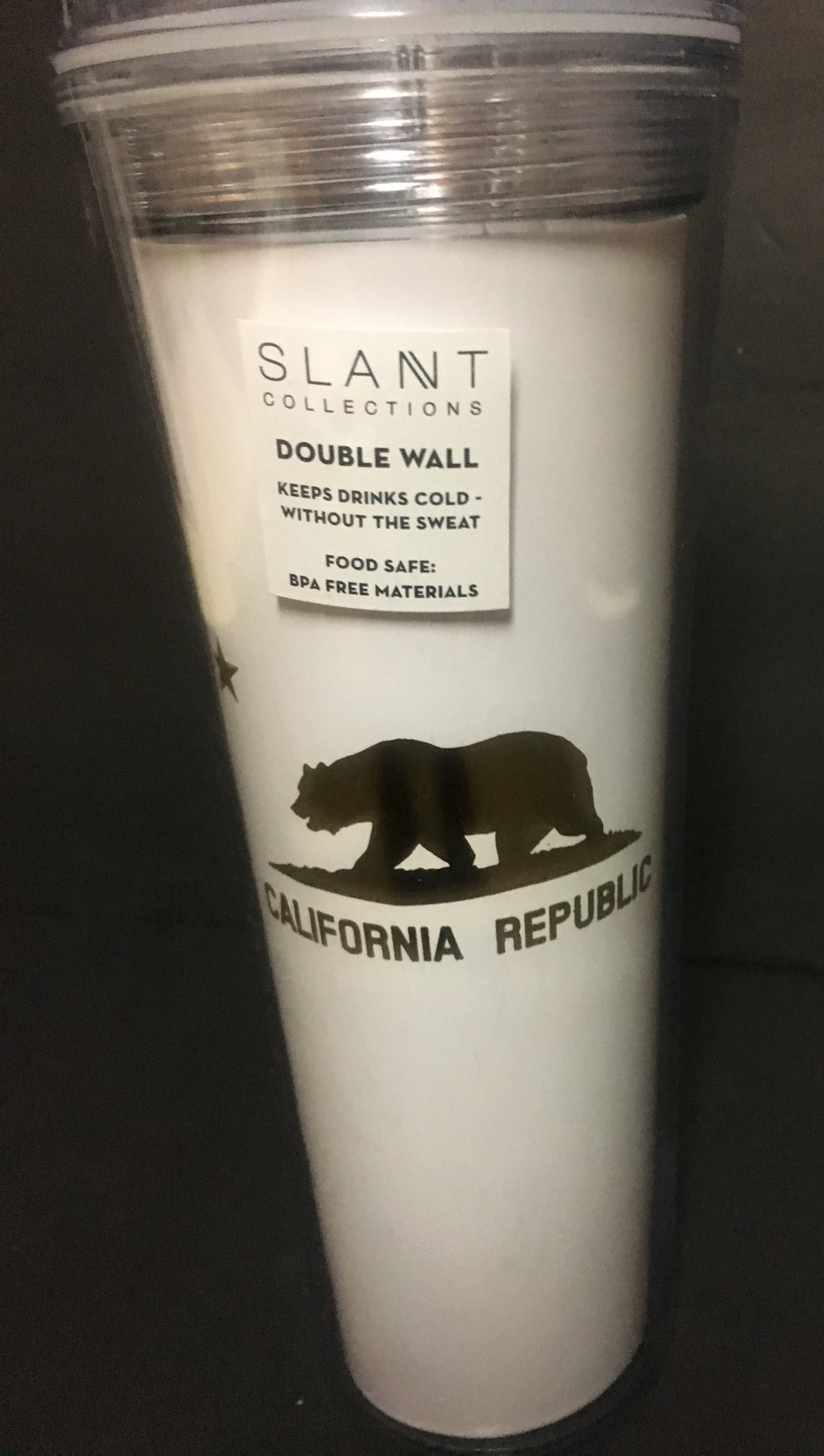 California Republic Double Wall BPA Free Drinking Cup 17 OZ Skinny