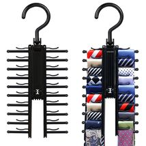 Adjustable 360 Degree Rotating Tie Rack Belt Sc... - $8.95