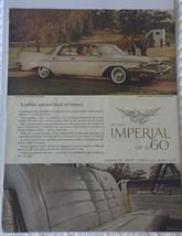 Vintage 1960 Chrysler Imperial Crown Southampton Magazine Advertisement Sealed! - $13.16