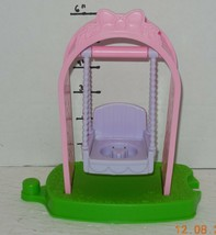 Fisher Price Little People Garden Flower Swing with Arch Pink purple Rar... - $9.50