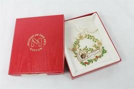 Boston Museum of Fine Art Baby in Cradle Christmas Tree Ornament Gold En... - $19.79