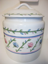 ZRIKE PRIMAVERA CHINA EXTRA LARGE COVERED CANISTER COOKIE JAR - $37.39