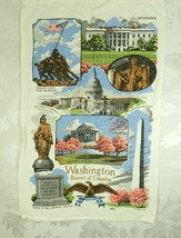 "Vtg Kay Dee Linen Kitchen Tea Towel Washington DC R. Batchelder 15.75""  ... - $14.84"