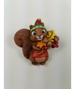 1987 Hallmark Thanksgiving Holiday Pin Native Female Squirrel w/ Headban... - $9.65