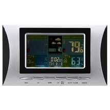 Wireless Weather Station Alarm Clock Barometer Digital LCD Colorful Display - $35.20