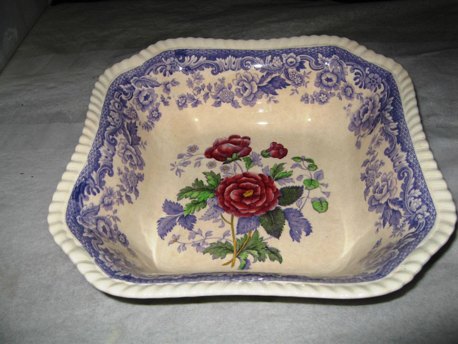 """Copeland Spode England """"MAYFLOWER"""" #2/8772- Square Vegetable Bowl-9"""" - $17.99"""