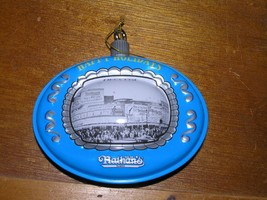 Vintage Reproduction Blue & Gray Tin Metal NATHAN'S in Chicago Christmas... - $7.69