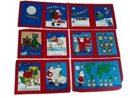 Sew a Book Fabric Panel, Santa Comes to Town, Merry Christmas Holiday, P... - $10.66