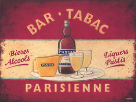 Bar Tabac British Advertisement Alcohol Metal Sign - $16.95