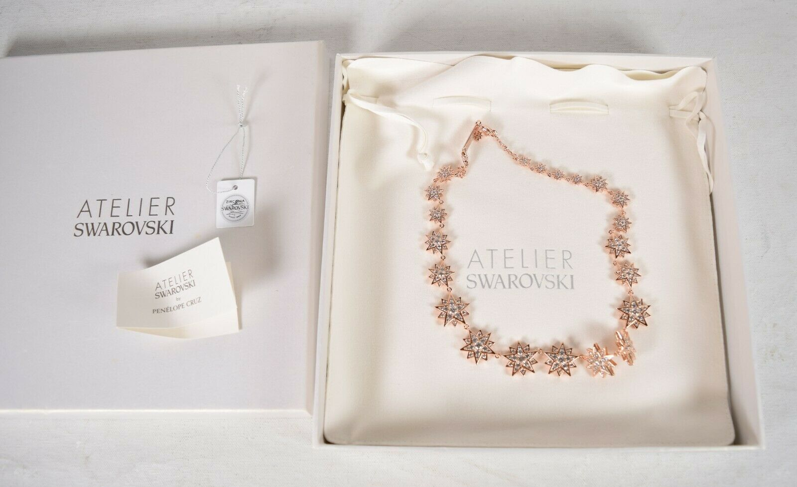 Primary image for Atelier Swarovski Penelope Cruz MoonSun Choker Five-point Star Necklace Rose
