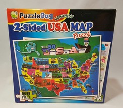 New and Sealed 2011 2 Sided USA Map 60 Piece Puzzle by PuzzleBug - $1.99