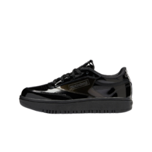 [Reebok x Cardi B] Club C Double Shoes Sneakers - Black(H02565) - $69.98