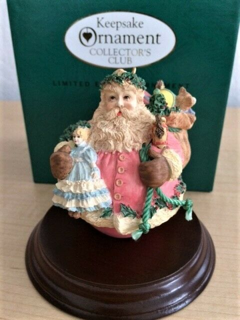 1994 Limited Edition Hallmark Keepsake Collector's Club Jolly Holly Santa
