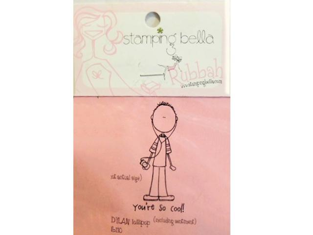 Stamping Bella Dylan Lollipop and Sentiment Unmounted Rubber Stamp #LB110