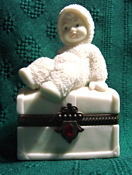 Primary image for Snowbabies Dept 56- Royal Treasure- July Birthstone - Jeweled Trinket Box