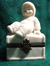 Snowbabies Dept 56- Royal Treasure- July Birthstone - Jeweled Trinket Box - $9.00
