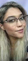 New BURBERRY B 9812 4511 53mm Gold Clubmaster Rx Women's Eyeglasses Frame - $159.99