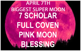 Haunted April 7TH Coven 27X Super Moon New Begnnings Wish Magick 98 Yr Witch - $87.77