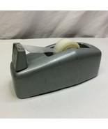Scotch Brand Tape Desk Dispenser Model C-20 Heavy Industrial 3M Gray Gre... - $32.66