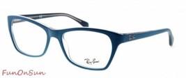 Ray Ban Lunettes de Vue RB5298 5391 Mat Bleu Rectangle Cadre 53mm Authen... - $73.50