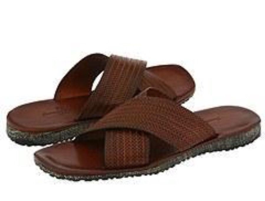 Tommy Bahama Mens Palermo Casual Sandals Size 8 M Brown (PAPAYA) Leather
