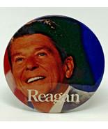 "Ronald Reagan Photo Pinback 3"" Vintage Original Button 19-2939 - $12.30"