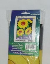 Two Group Flags 04054 Sunflowers Welcome Flag 100 Percent All Weather Nylon image 6