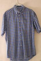 Tommy Hilfiger Button Front Shirt Large 100% Cotton - $17.58