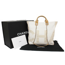 CHANEL Tote Chain Shoulder Shopping Bag 2way A57161 Y83399 Beige Auth Ne... - $4,307.20
