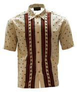 Microfiber Shirt Short Sleeve Exclusive Scorpion Design Made in USA Beige - €16,45 EUR