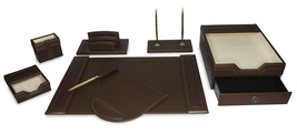 Majestic Goods 8 Piece Brown Executive Office Desk Set(W1013) - €117,68 EUR