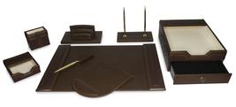 Majestic Goods 8 Piece Brown Executive Office Desk Set(W1013) - €120,79 EUR