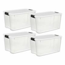 Sterilite 19889804 70 Quart/66 Liter Ultra Latch Box, Clear With A White... - $92.51+