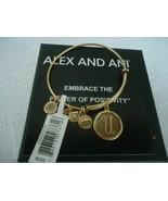 NEW Alex and Ani INITIAL U GOLD Charm Bangle Bracelet NWT & CARD - $12.86