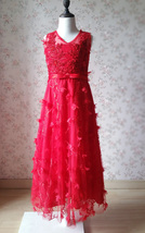 A-Line Princess Floor Length Flower Girl Dress-Tulle Sleeveless Scoop Neck NWT image 5
