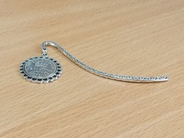 1937 80th Birthday Anniversary Sixpence Coin Bookmark with Shiny Sixpenc... - $14.22
