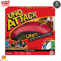 UNO ATTACK! Rapid Fire Card Game Portable Storable Electronic With Sound... - $24.99