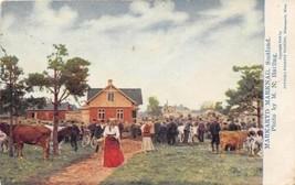 Markaryd Marknad Farm Market Smaland Sweden 1910 postcard - $6.93