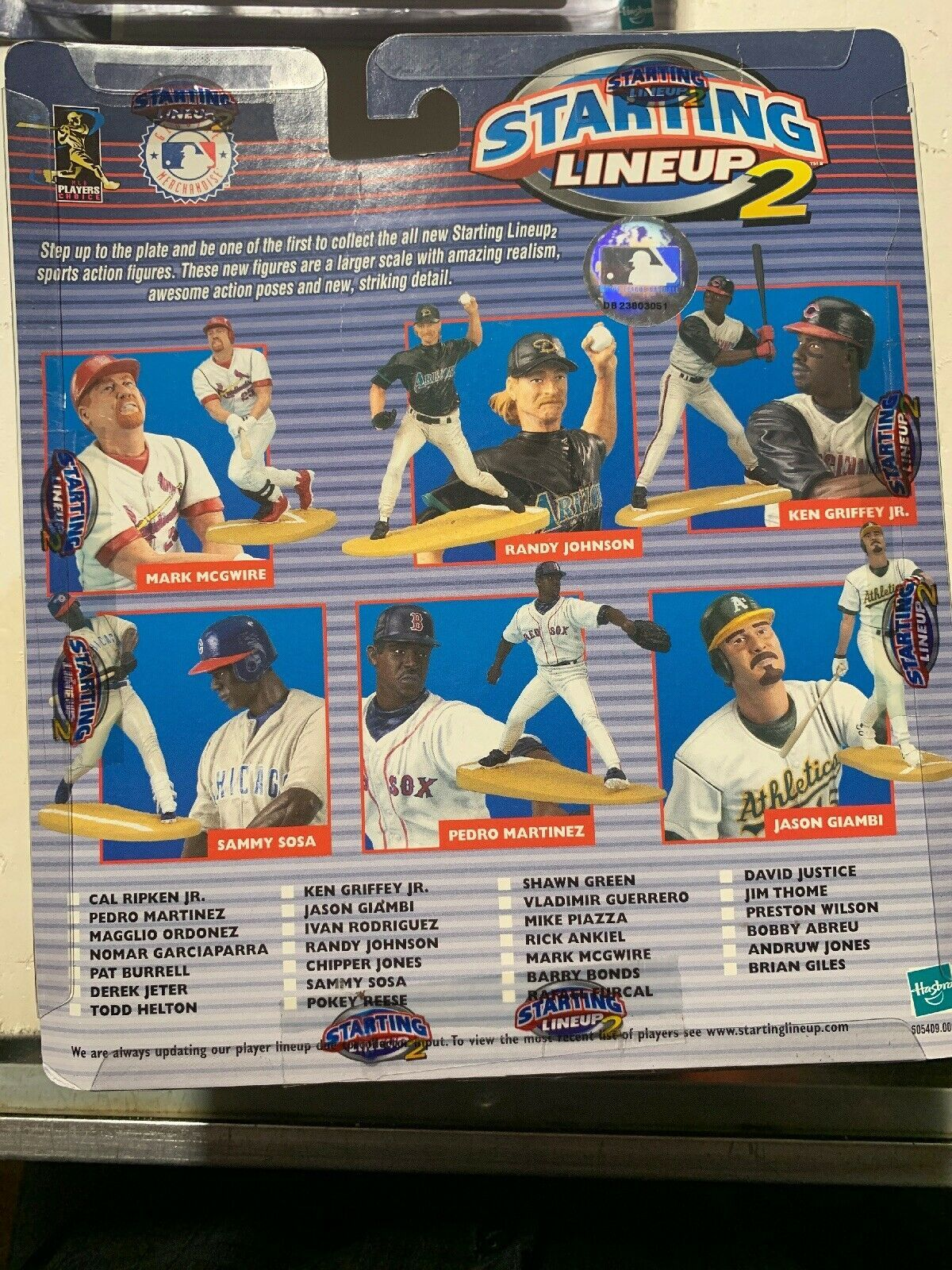3 Starting Lineup 2 2001 Extended Series Figures Rodriguez Edmonds Bagwell