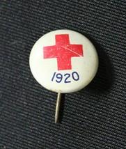 "Vintage 1920 Red Cross Pin Jan 1917 JL Lynch Chicago Illinois 1/2"" White... - $14.99"