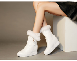 PB150 sweet long hairs snow boots , US Size 4-9, white - $1.329,86 MXN