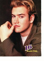 Mark Paul Gosselaar teen magazine pinup clipping vintage 90's hand on lips Bop