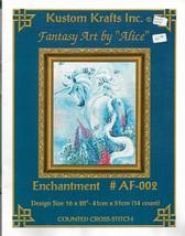 Counted Cross Stitch Pattern-Kustom Krafts-Fantasy Art By Alice-UNICORN ... - $9.46
