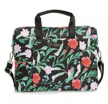 KATE SPADE Jardin botanical 15-inch Laptop Commuter Bag Blue Messenger T... - $156.42