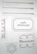 Martha Stewart Clear Acrylic Stamps Holiday Invitation Cards Scrapbooking - $5.80