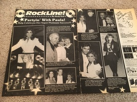 Paula Abdul teen magazine pinup clipping partyin with Paula Rockline