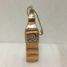 Pottery Barn Big Ben Christmas Ornament New Old Stock Glitter London England - $29.69