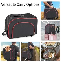 Travel Dog Carrier Backpack Portable Airline Approved Under Seat Pet Cat... - $42.56