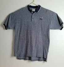 Vtg Hard Rock Cafe Las Vegas 3-Button Blue checkered Polo Shirt - $11.87