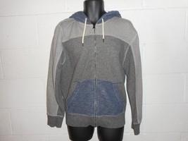 Tommy Hilfiger Colorblock Patchwork Zip Up Hoodie Hooded Sweatshirt Large - $24.99